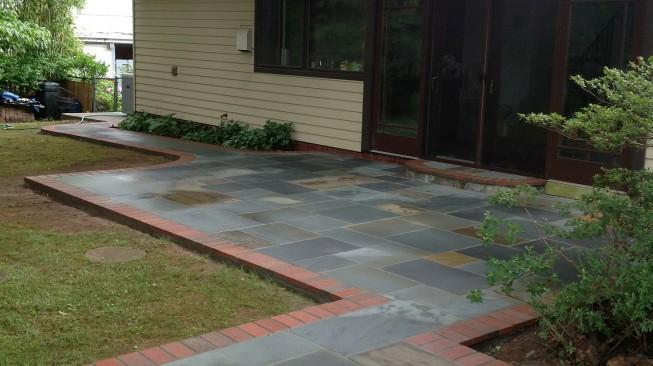 Stone and brick patio