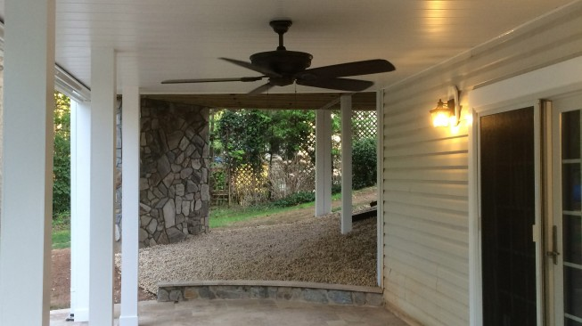 Walkout basement patio