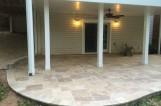 Blonde slate patio