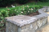 Stone seating for patio
