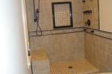 Bathroom shower tile work