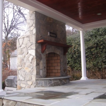Stone Fireplace in Leesburg